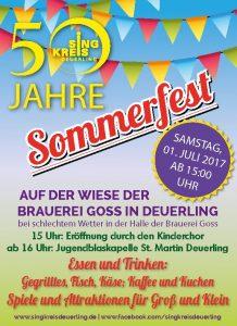 Sommerfest 50 Jahre Singkreis @ Festwiese Brauerei Goss | Deuerling | Bayern | Deutschland