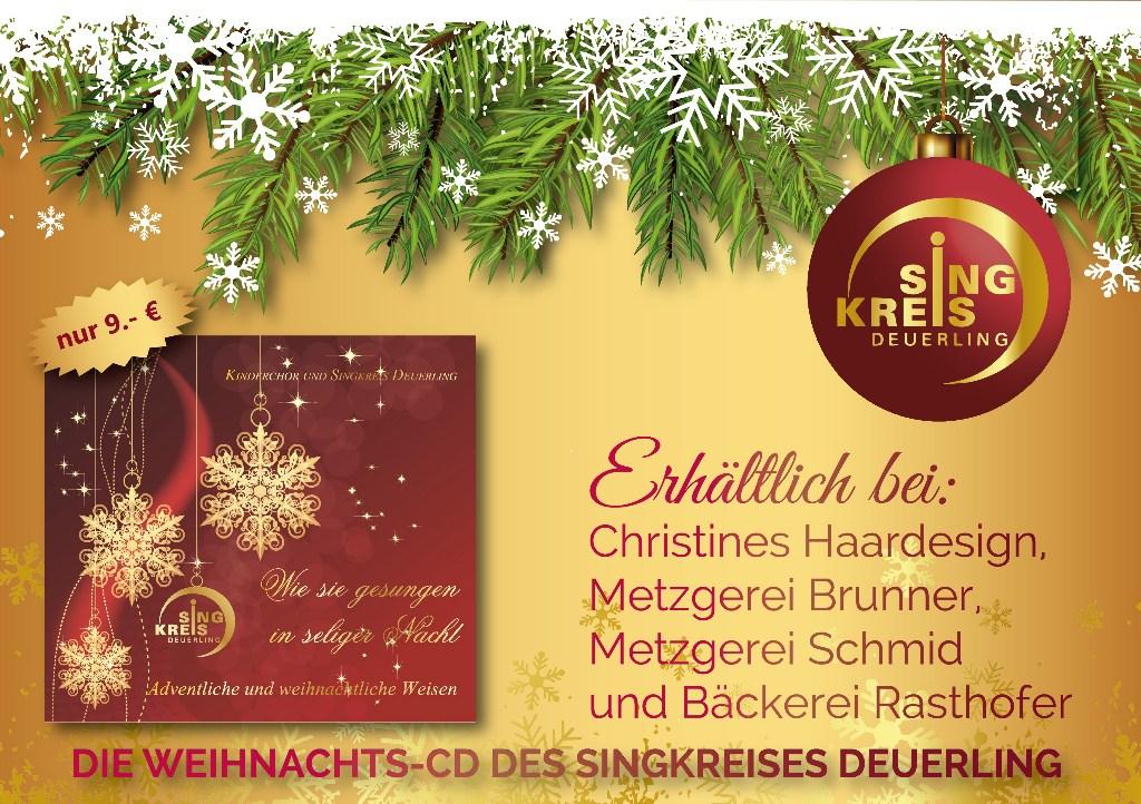 Wieder erhältlich: unsere WEIHNACHTS-CD!
