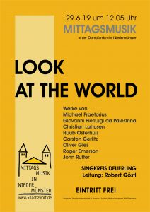 Look at the world - Mittagsmusik @ Dompfarrkirche Niedermünster