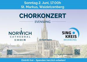 Norwich Cathedral Choir und Singkreis @ St. Markuskirche